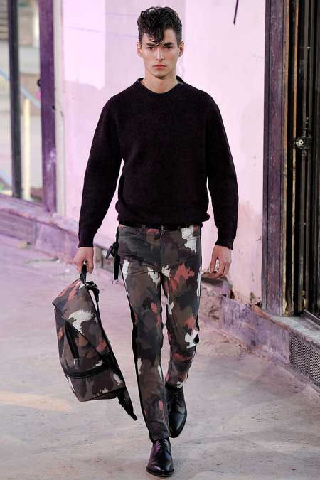 Phillip Lim men's Collection 2013 camouflage trousers