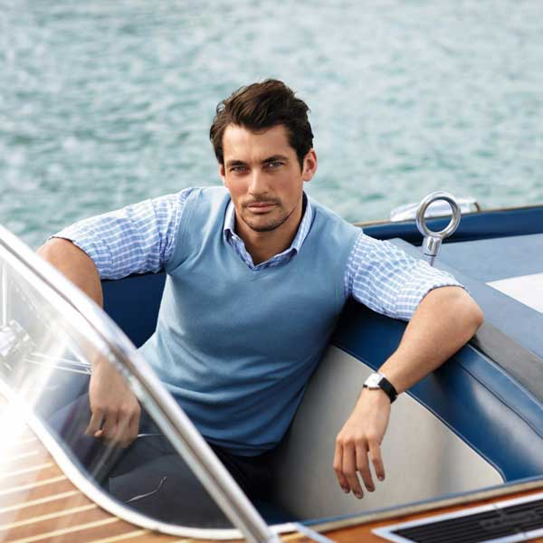 David Gandy - Blue vest for 2013