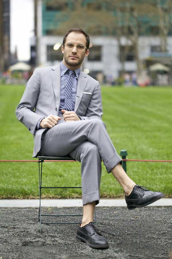 Ties for men - Gabriel Zeller in a grey suit