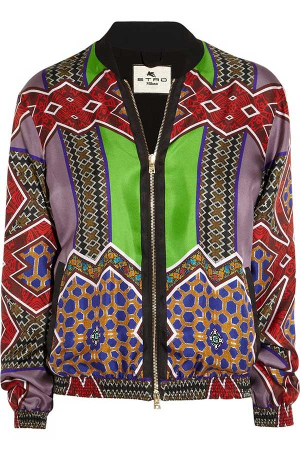 Etro bomber jacket - African prints for men 2013