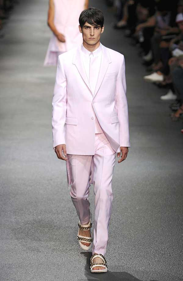Givenchy spring pink 2013 suits for men