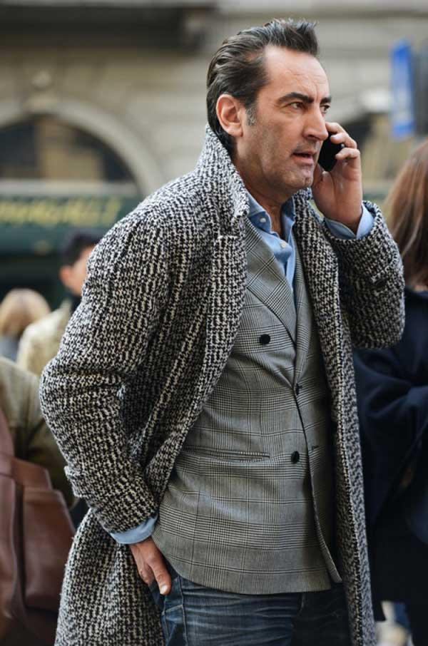 grey tweed for men