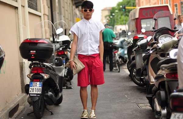 Shorts for men - red summer 2013