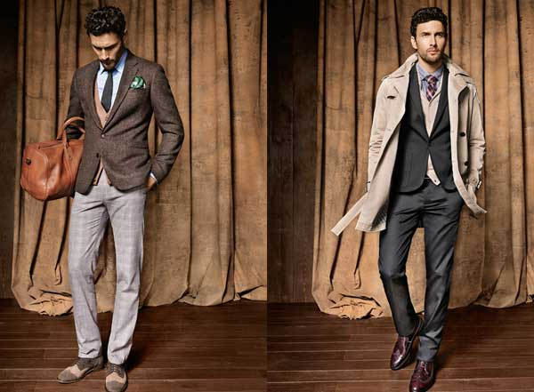 H.E Mango grey suits for men 2013