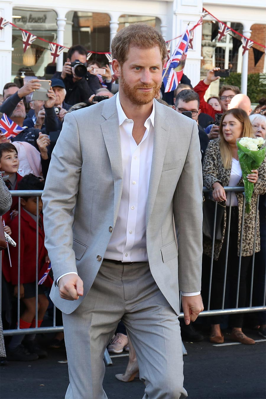 Prince HarryStyles - No Mexit Will Ever Change grey suit (2)