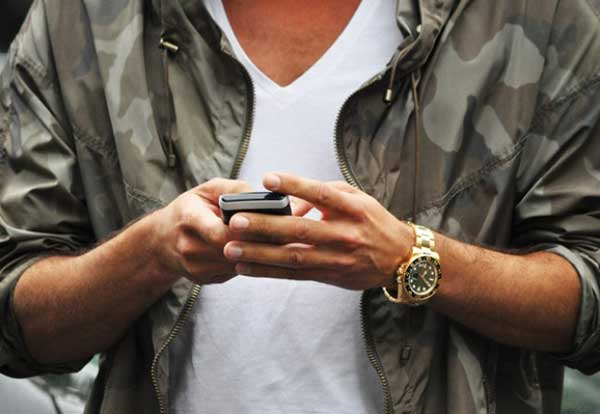 Camo jacket and watch for men 2013
