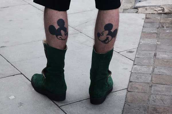 Tattoo for Men - Shoreditch 2013 - Mickey Mouse tattoo