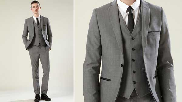 Topman 2013 suits for men - three piece grey
