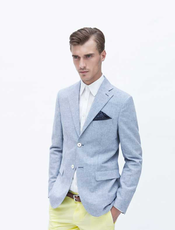 Zara man - blue suits for 2013