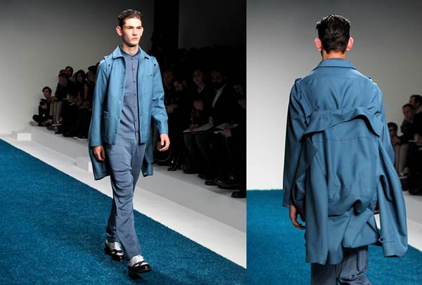 Pringle of Scotland - Blue Trench Coat - SS14 collection