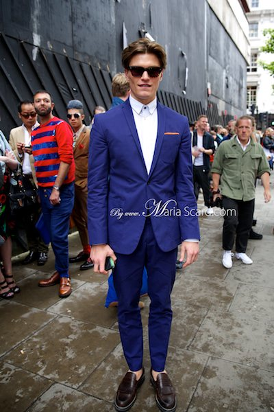 Oliver Cheshire - Marks & Spencer Model Blue suit