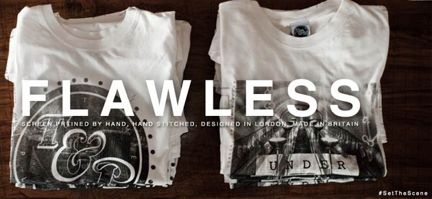 Time and Place – Hand Printed Monochromatic T-Shirts