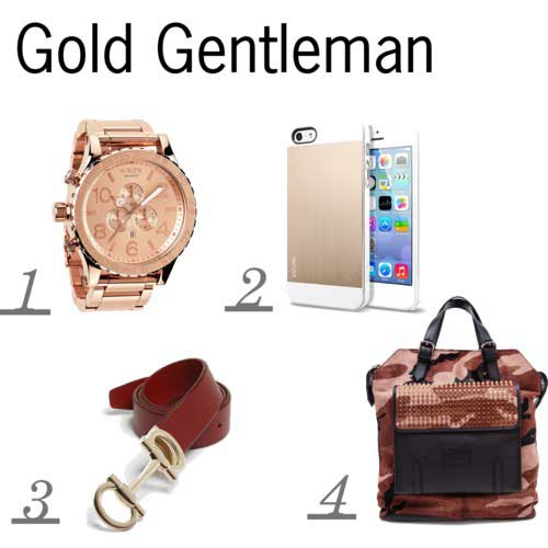 Christian Louboutin Camouflage and Ponyskin Leather Backpack,Nixon 'The 51-30 Chrono' Watch,Spigen iPhone 55S Saturn in Champagne Gold,Salvatore Ferragamo Leather Belt
