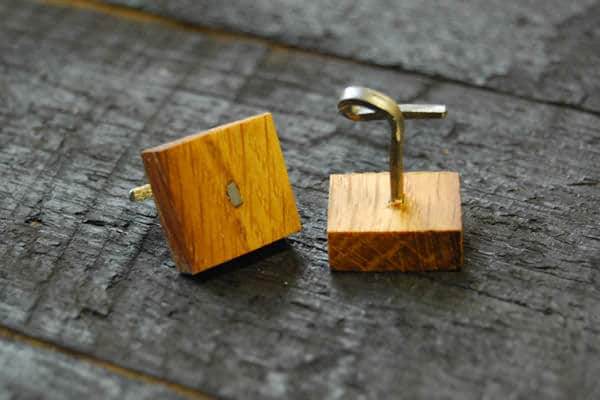 Cufflinks Made by Irish Whiskey Barrel(6)