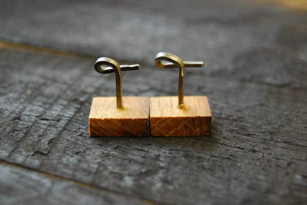 Cufflinks Made by Irish Whiskey Barrel