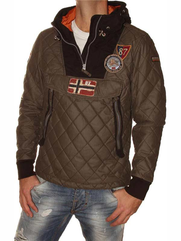 Quilted Brown Mens Jacket