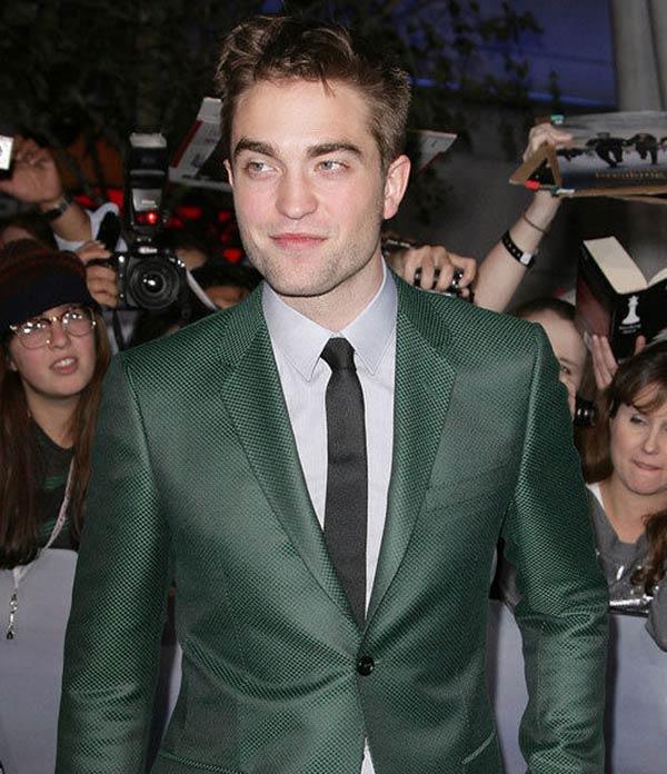 Robert Pattinson Wearing Emerald Suit