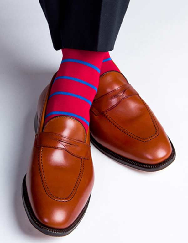 Dapper red socks for men