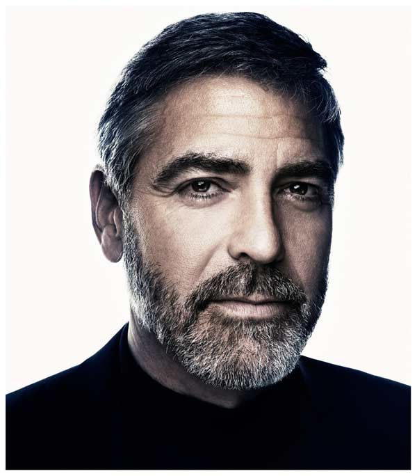George Clooney Classic cut crop hairstyle for men