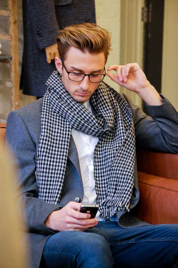 Men's Scarf on show for Men Style Fashion