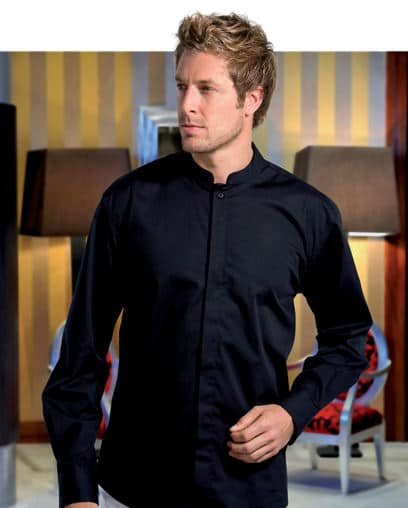 Men's Shirts - Mandarin Collar