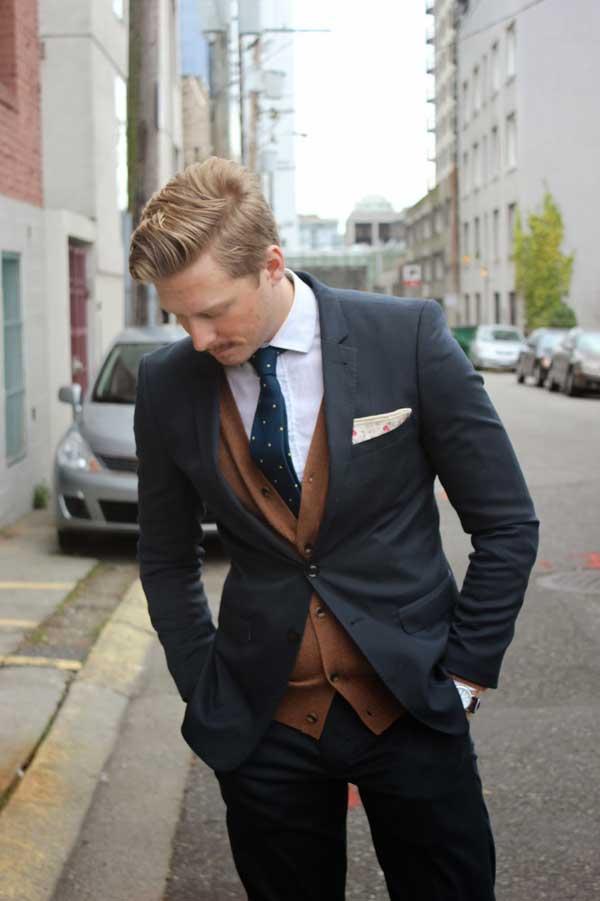 Winter Wardrobe for men brown vest