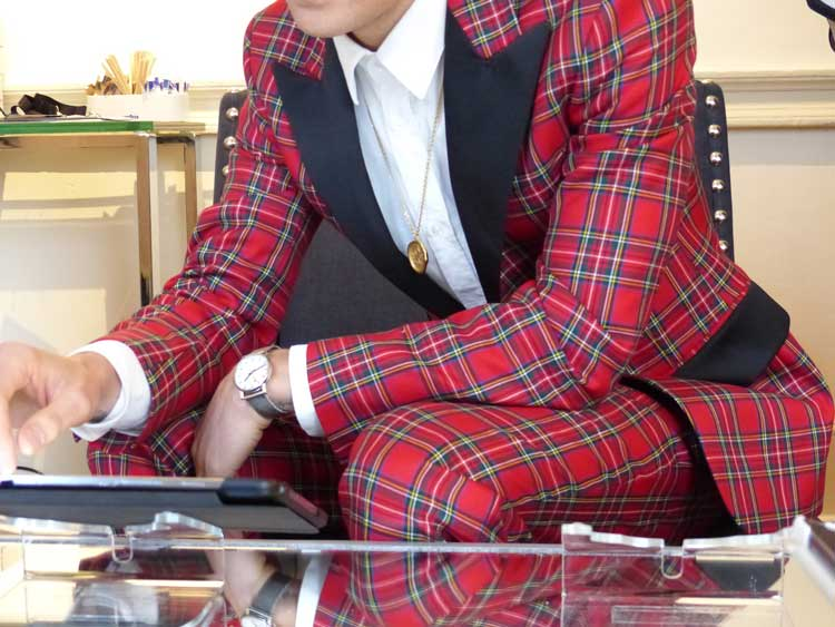 Oliver Proudlock - Bespoke Fitted Tuxedo Tartan (3)