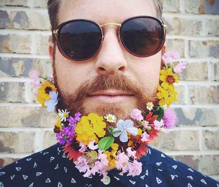 Flower Power Beards – Is This The Start Of A New Trend