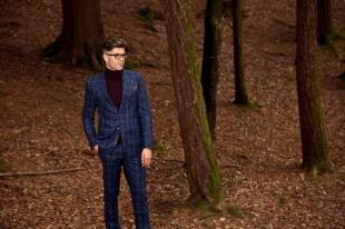 'The-Ernest'----Navy-Boxcheck-Flannel-2-piece-Suit