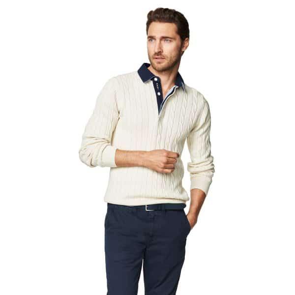 Gant knitwear Cotton Cable Polo