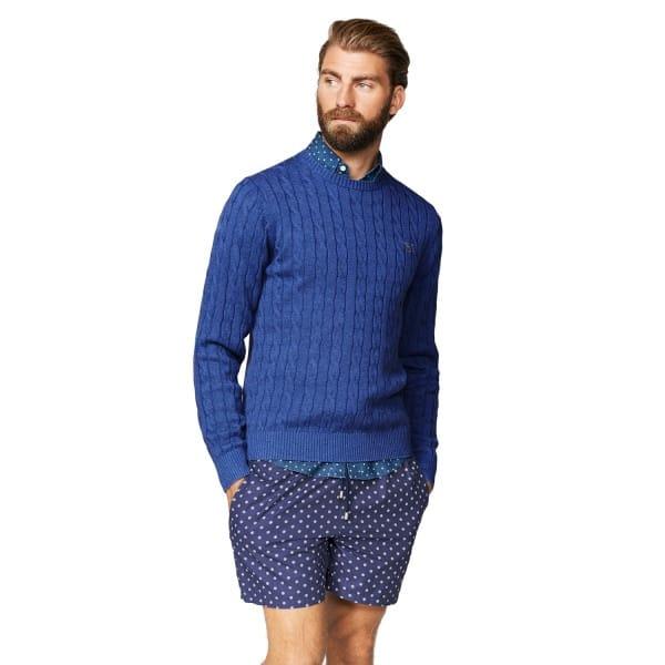 Gant knitwear Cotton Cable Crewneck Jumper