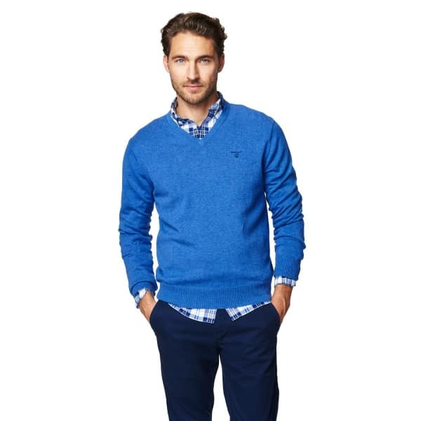 Gant knitwear Lightweight Cotton V-Neck Jumper