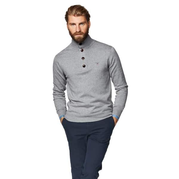 Gant knitwear Cotton Classic Mock Neck Jumper