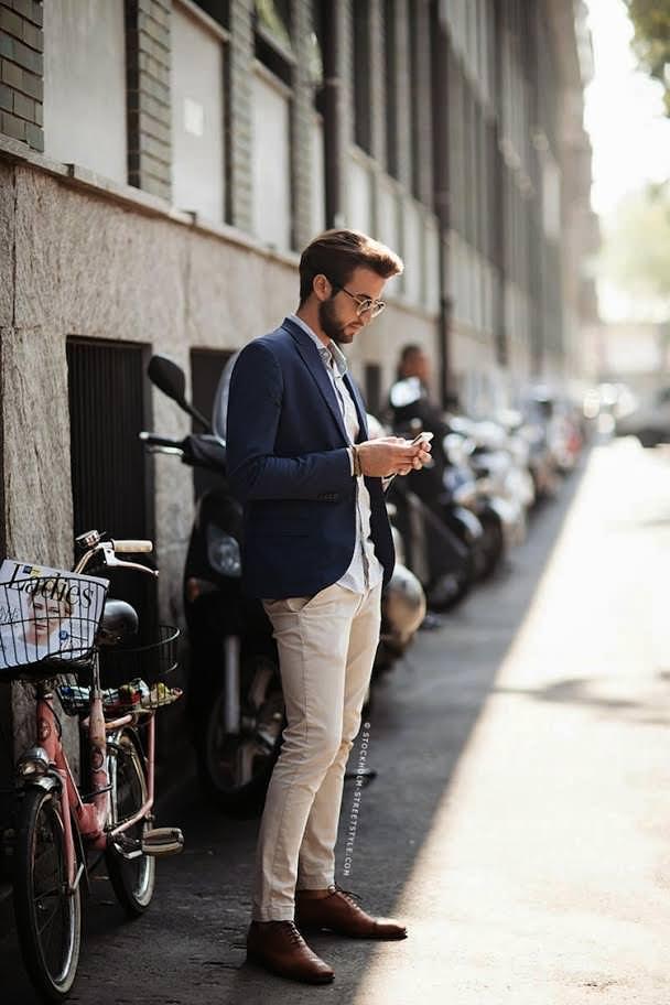 Man Wearing Chinos