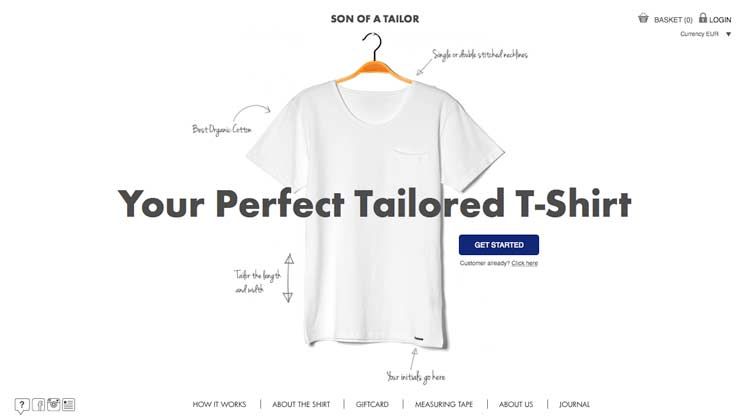 Son Of A Tailor – Order Tailored T-Shirts Online