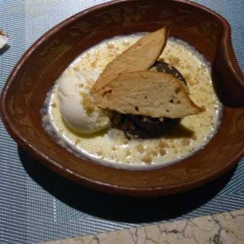 Bali POD Chocolate Fondant With Hazelnut and Vanilla Ice Cream