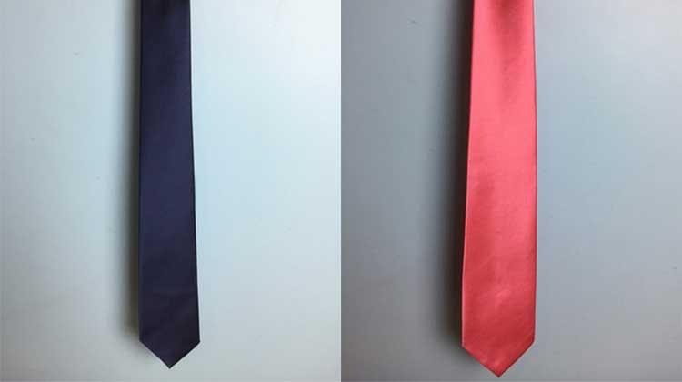 Slim Navy Blue Necktie - $ 8 & Cool Coral Necktie — $ 8