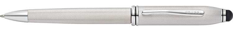 Townsend Stylus, Brushed Platinum Plate Ballpoint Pen £145