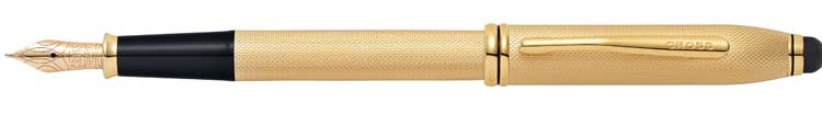 Townsend Stylus - Brushed 23KT Gold Plate Fountain Pen £315
