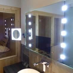 Mirror with TV plus Private Sauna