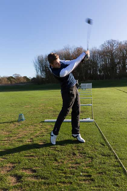 Lewis Jackson living the dream wearing Galvin Green