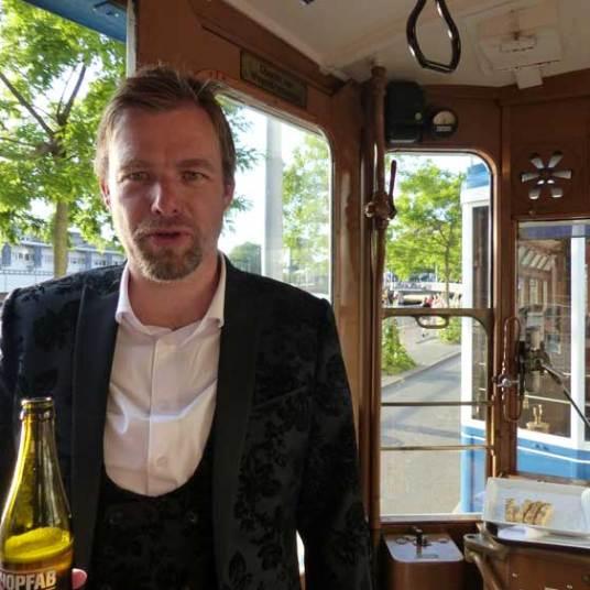 Historic tram ride - I am wearing Noose & Monkey suit