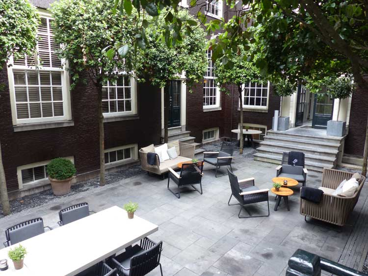 The Dylan Hotel Amsterdam Courtyard