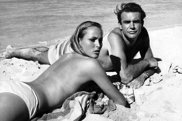 Sean Connery and Ursula Andres Set of Dr. No Rolex Submariner