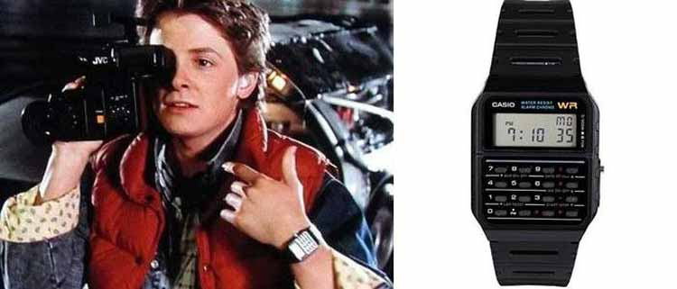 Back to the future watch casio
