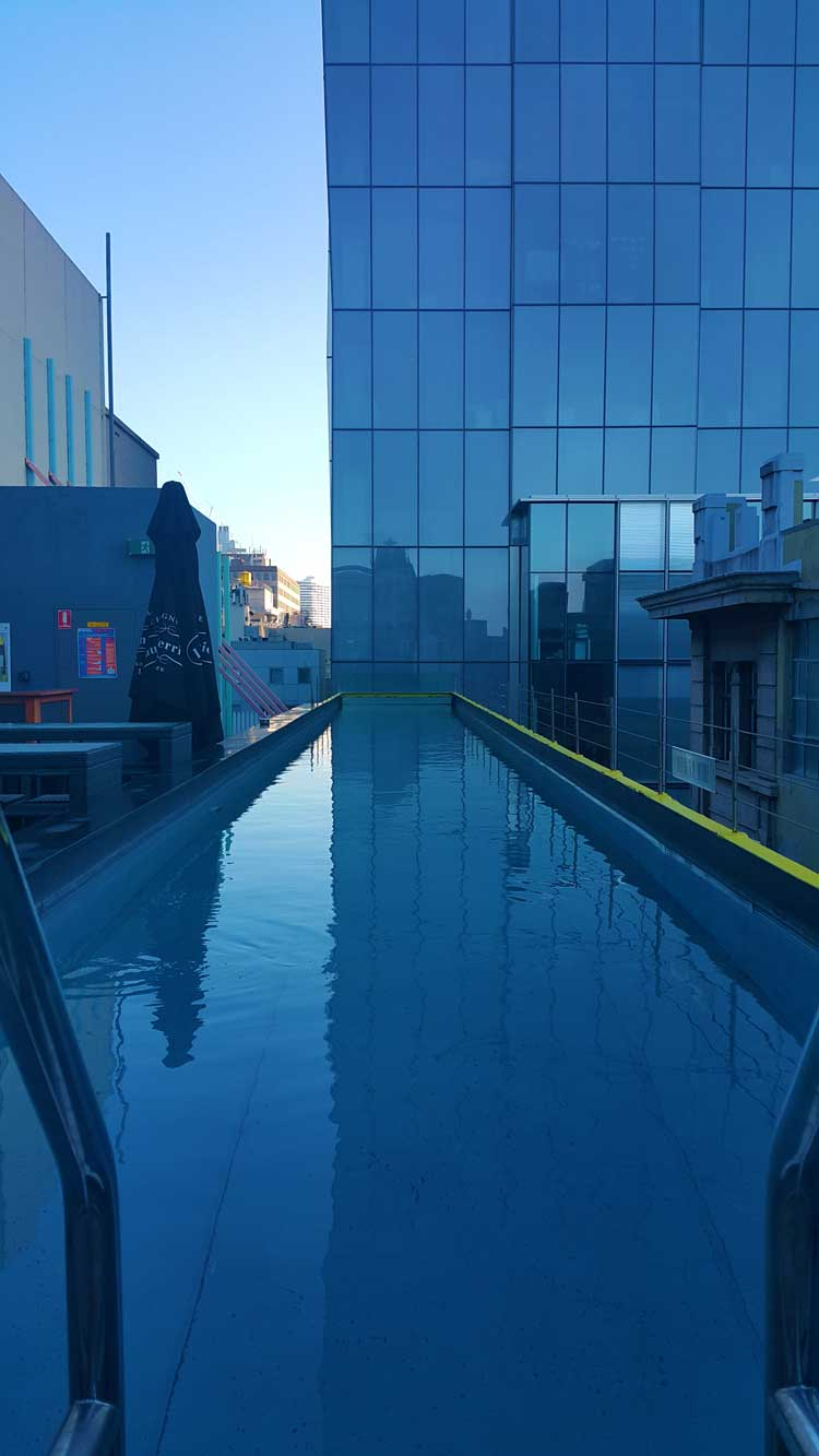 Adelphi Hotel Melbourne - Flinders Lane Boutique Review pool
