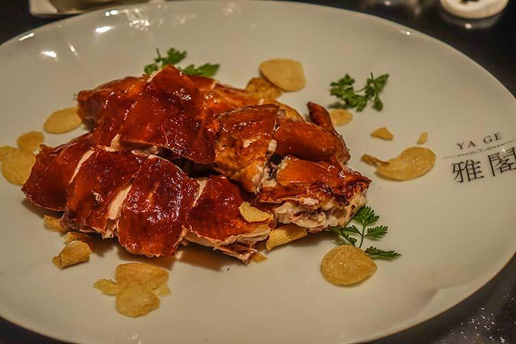Ya Ge Crispy Chicken Manadarin Oriental Taipei