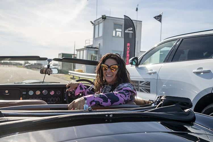Gracie Opulanza Jaguar Classic Track day Coventry E-Type Dita eyewear