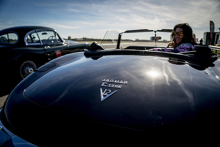 Gracie Opulanza Jaguar Classic Track day Coventry E-Type car Black