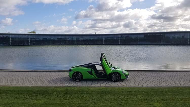Headquarters Woking United Kingdom McLaren 570 Spyder Mantis Green Supercar